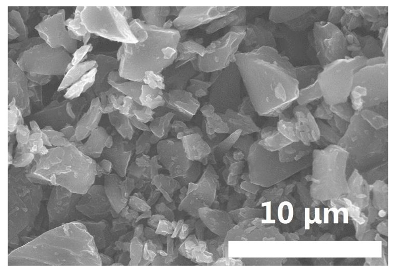 Irregular Hard Carbon Powder SEM Image